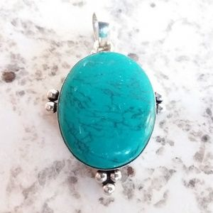 SANTA ROSA TURQUOISE PENDANT 925 SILVER NECKLACE